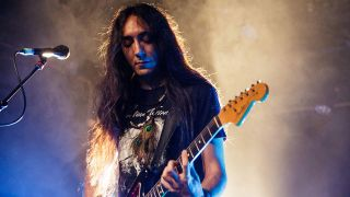 Neige from Alcest performing live
