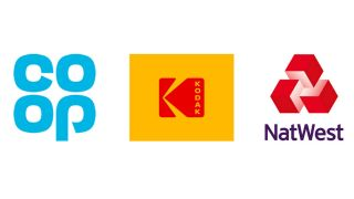 Logos for Co Op Kodak and NatWest