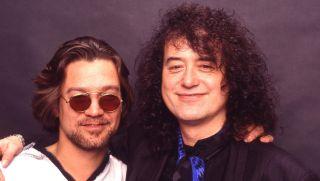 Eddie Van Halen and Jimmy Page