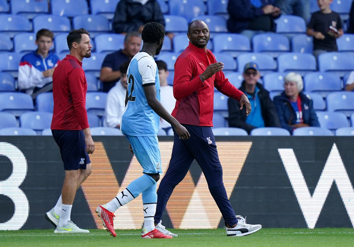 Patrick Vieira attempting to implement different style of play at Crystal Palace