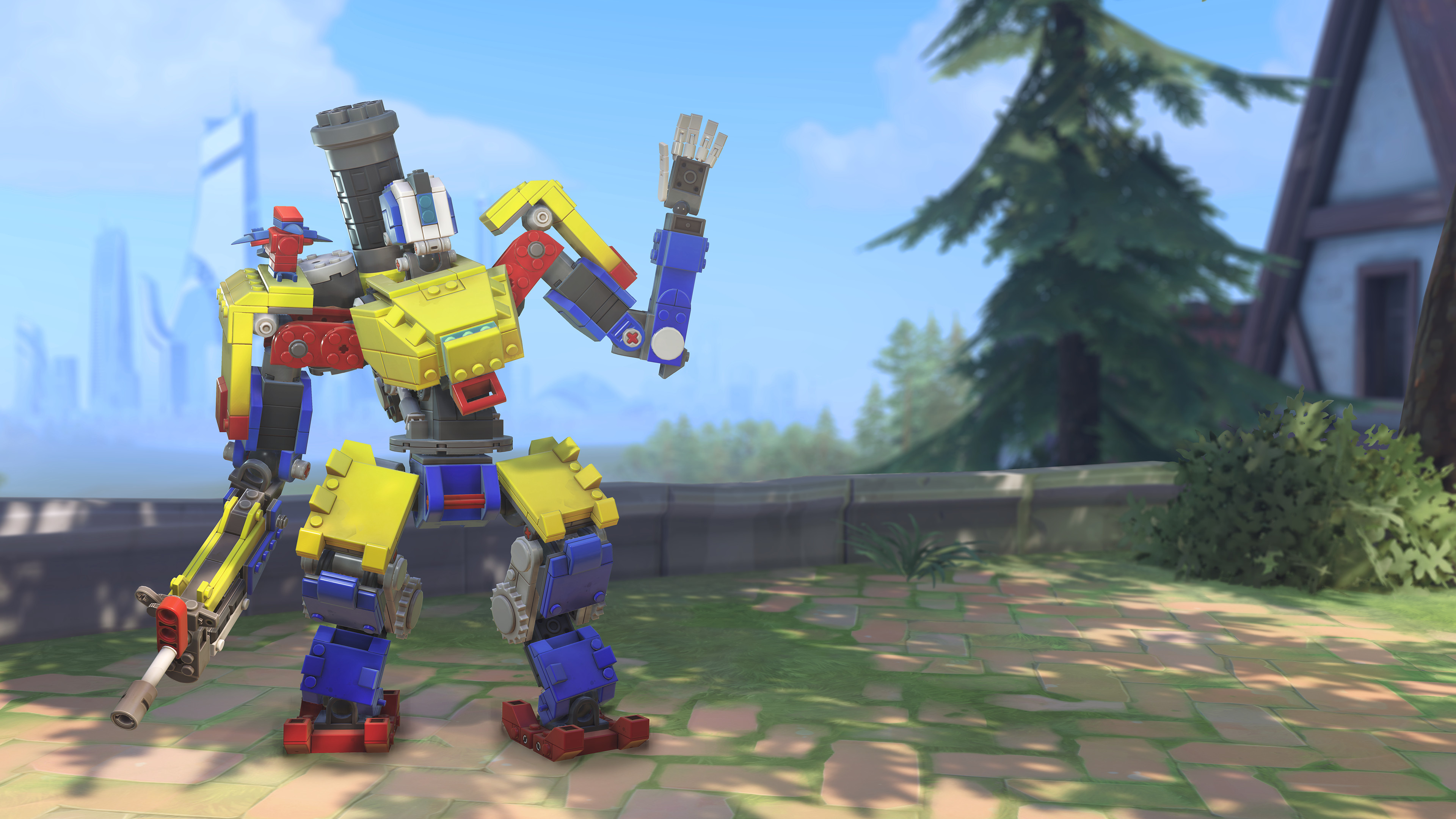 New Overwatch event lets players earn a Lego-themed Bastion skin | PC Gamer