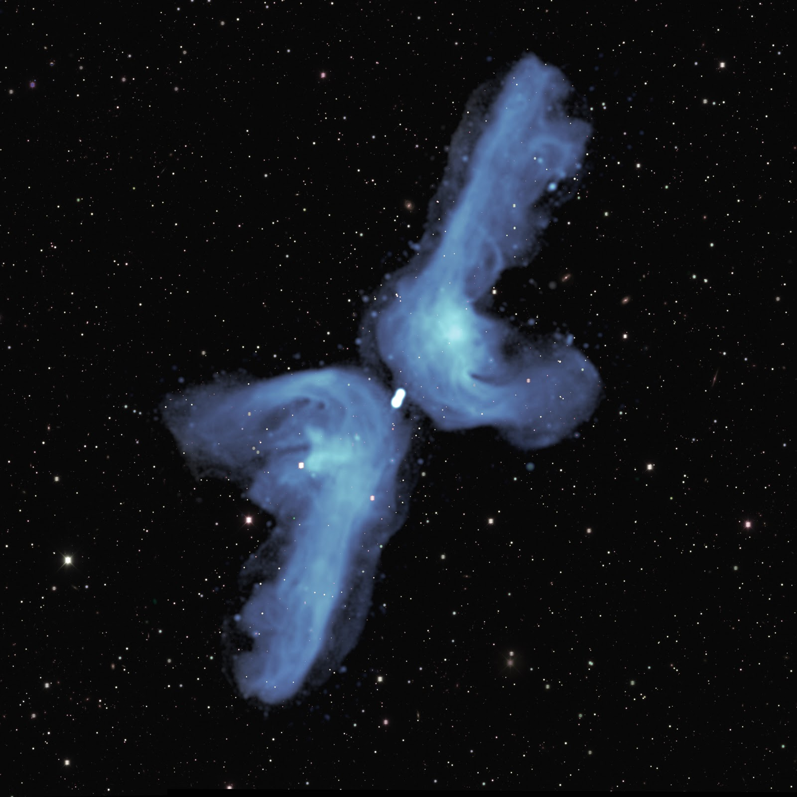 The 'double boomerang' of an x-shaped radio galaxy
