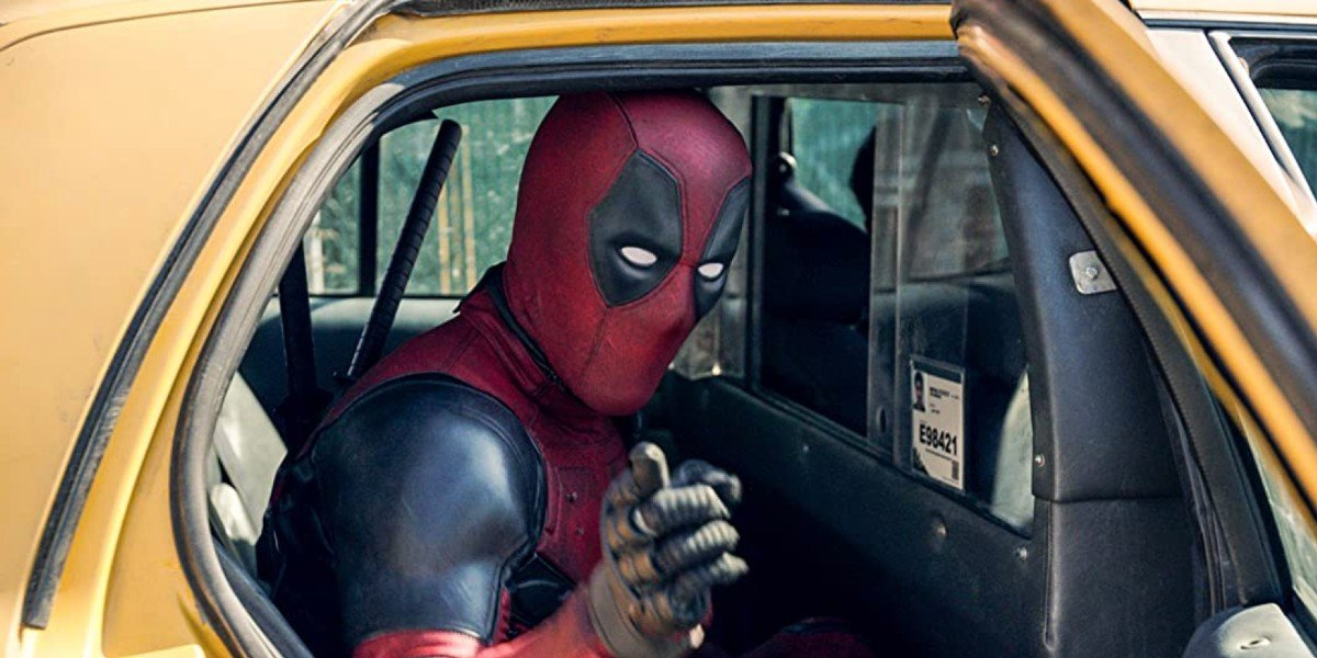 Deadpool in a cab
