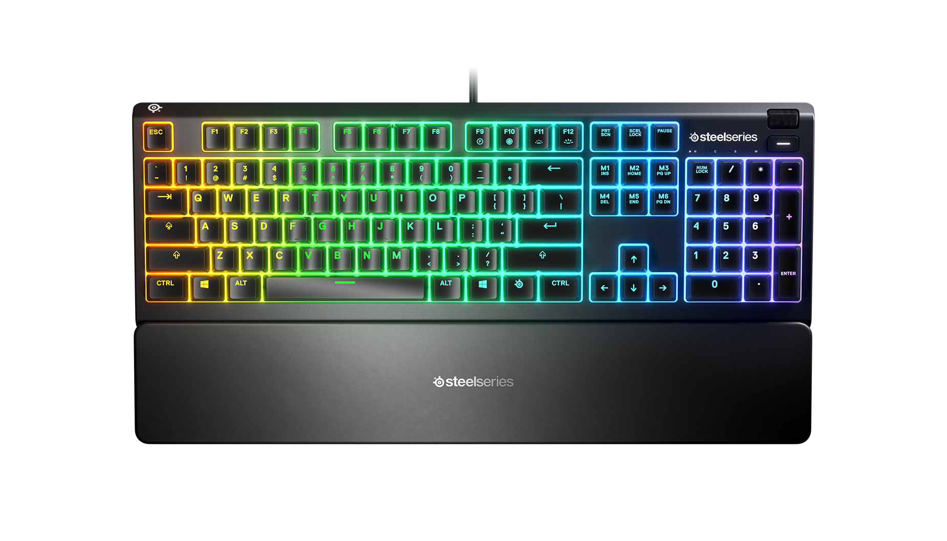 SteelSeries Apex 3, gaming keyboard on a white background