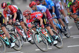 Overall winner Primoz Roglic (Jumbo-Visma) on the final stage of the 2019 Vuelta a España