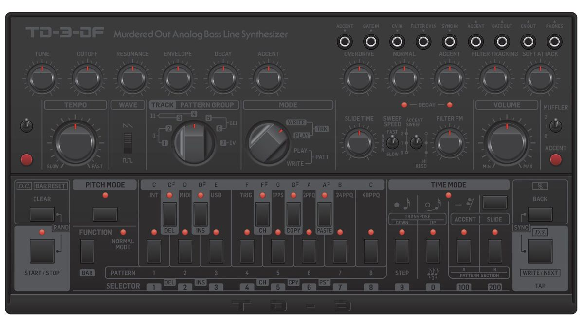 """""""It sucks"""": Devil Fish owner slams Behringer's plan for 'Murdered Out' version of the TD-3 synth"""