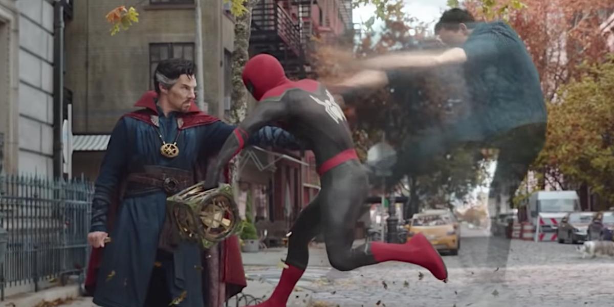 Doctor Strange and Spider-Man in Spider-Man: No Way Home