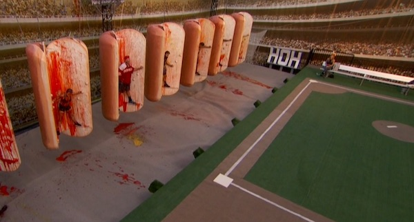 Big Brother Endurance comp hot dogs