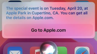 Evento de Apple 2021 Siri