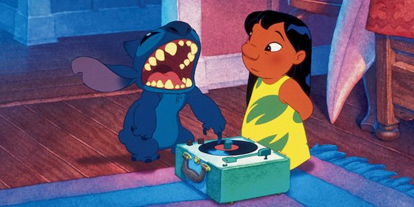 Lilo & Stitch with record player