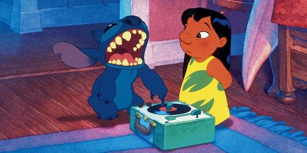 Lilo & Stitch with record player