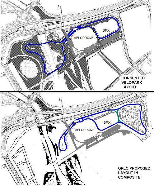 Velopark map, Eastway meeting March 2011