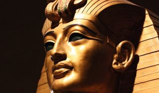 replica of king tut's death mask.