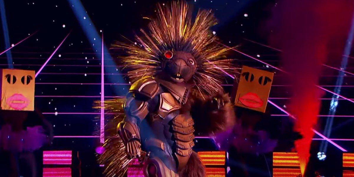Robopine singing on The Masked Singer
