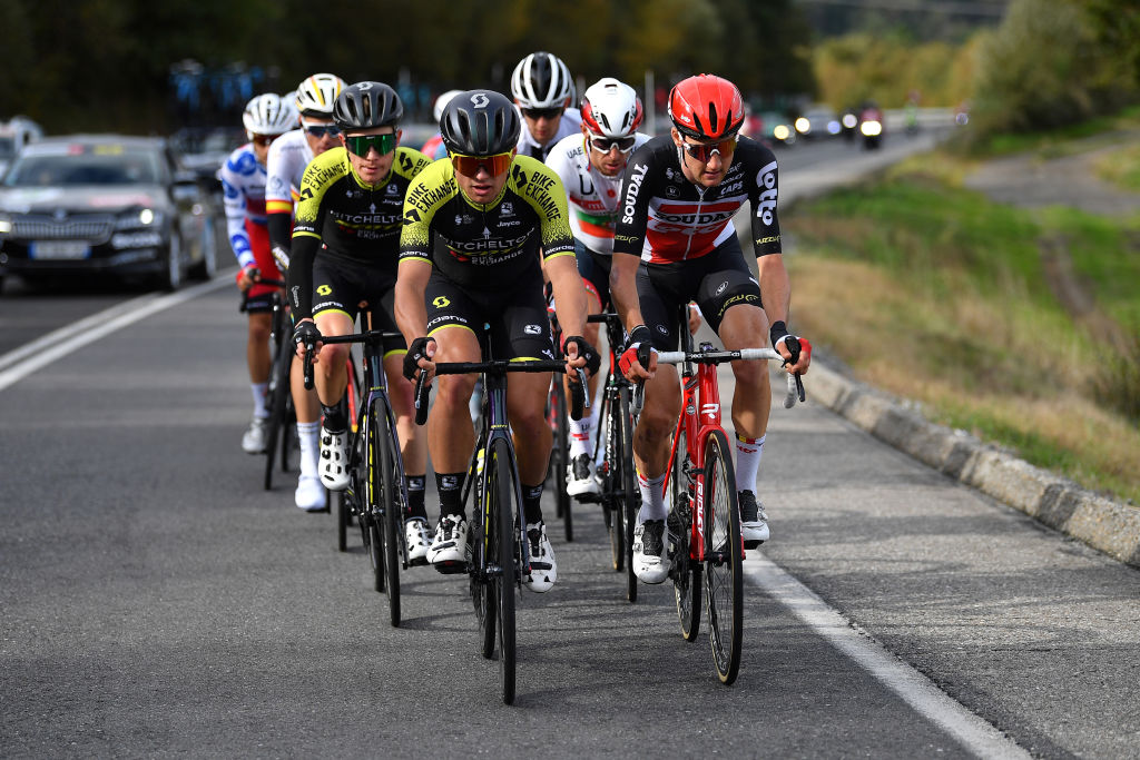 The break of the day on stage 15 at the Vuelta a España