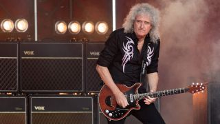 Queen guitarist Brian May is seen at 'Jimmy Kimmel Live' on June 22, 2017 in Los Angeles, California