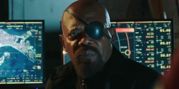Nick Fury in Spider-Man: Far From Home