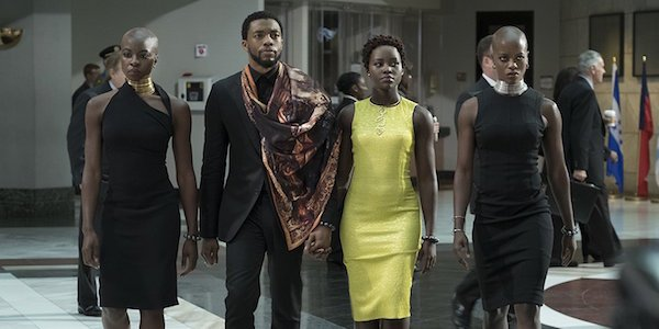 Okoye, T'Challa, Nakia and Ayo in Black Panther