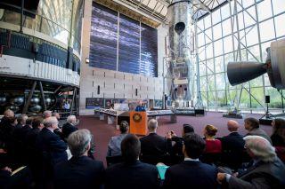 Grunsfeld at 'Repairing Hubble' Exhibit