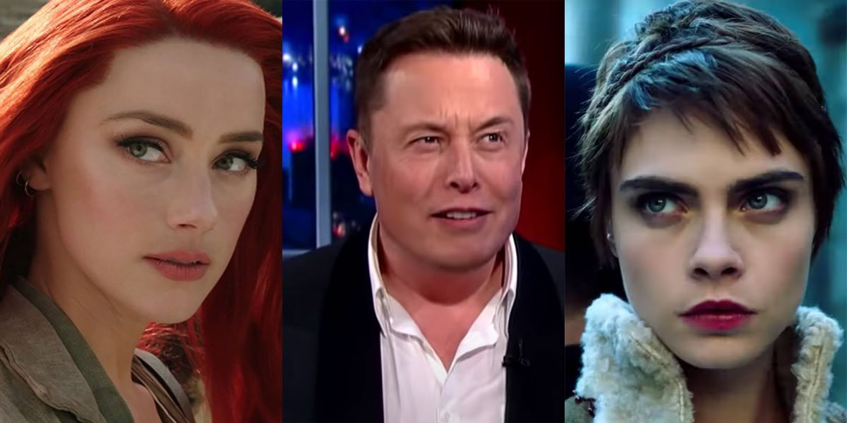 Elon Musk denies affair with Amber Heard and Cara Delevingne