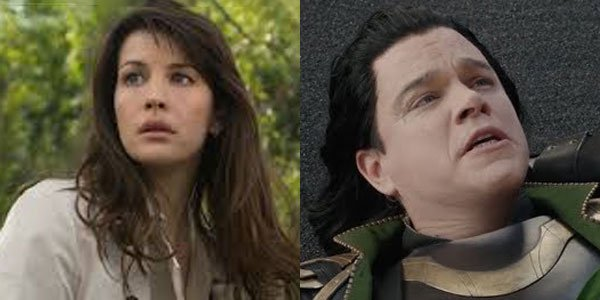 side-by-side of betty ross and fake loki