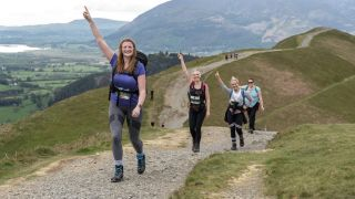 Walkers enjoy a walking challenge at the 2019 Keswick Mountain Festival