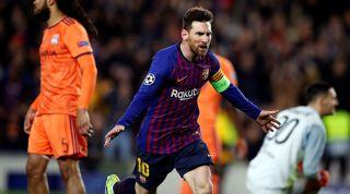 Lionel Messi Lyon goal