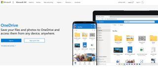 OneDrive homepage screenshot