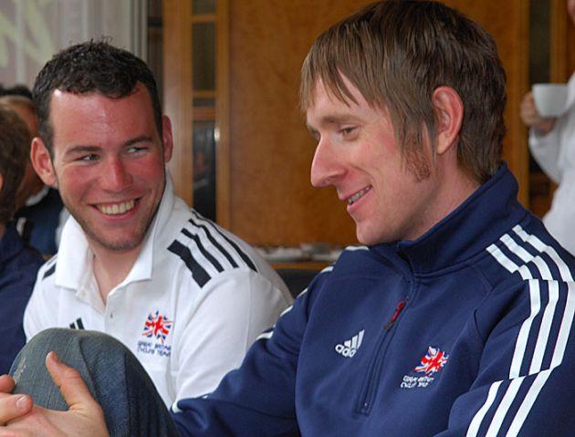 Bradley Wiggins and Mark Cavendish