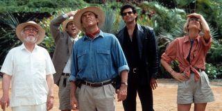 Sam Neill, Jeff Goldblum, and Laura Dern in Jurassic Park