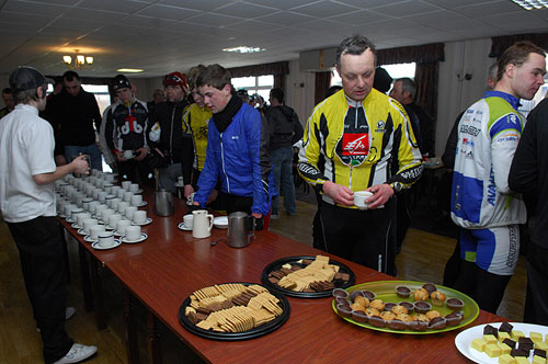 Tea and biscuits back at HQ, Tour de Nock, January 2010