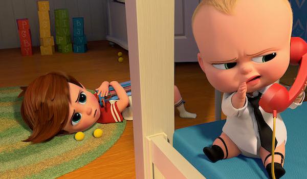 The Boss Baby Baby phones his boss
