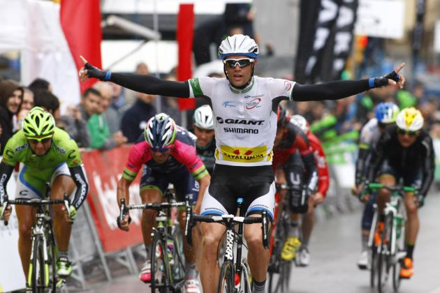 Luka Mezgec wins stage two of the 2014 Tour of Catalonia