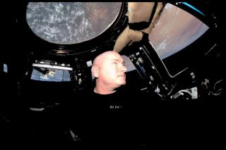 Scott Aboard the International Space Station