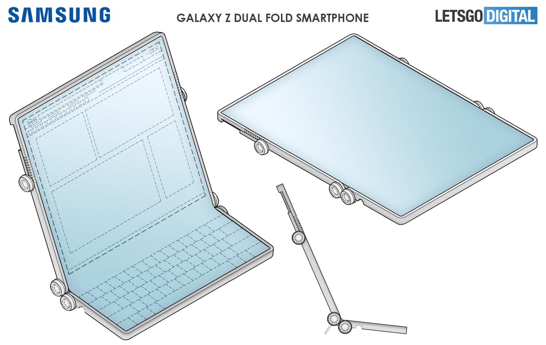 samsung dual foldable phone
