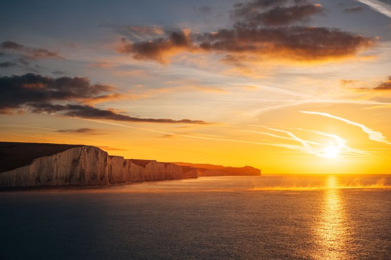 Sunshine in the UK: Seven Sisters cliffs by Benjamin Davies