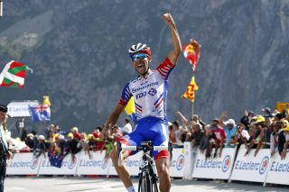 Pinot takes the win on the Tourmalet