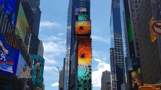 One Times Square—venue for the New Year's ball drop—recently installed a new 350-foot-high unified north wall featuring Prismview outdoor displays driven by the Christie Spyder X80 multi-windowing processor.