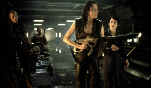 Sigourney Weaver, Ron Perlman, and Winona Ryder in Alien: Resurrection