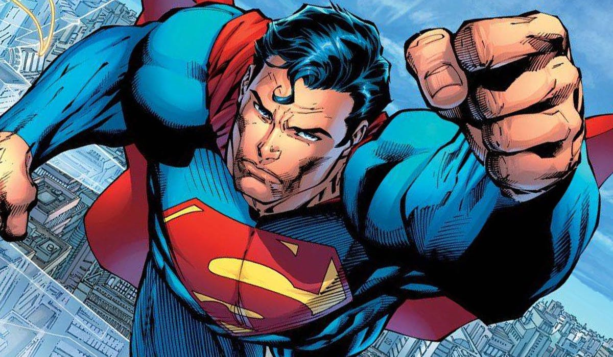 Superman flying in DC Comic books