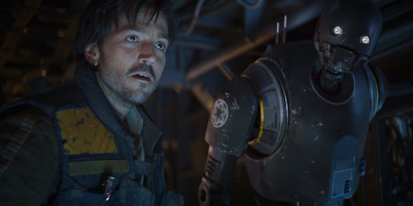 Cassian Andor and K-2SO in Rogue One