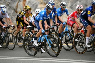 JEBEL JAISON UNITED ARAB EMIRATES FEBRUARY 25 Alejandro Valverde of Spain and Movistar Team during the 3rd UAE Tour 2021 Stage 5 a 170km stage from Fujairah Marine Club to Jebel Jaison 1489m First Hairpin 478m UAETour February 25 2021 in Jebel Jaison United Arab Emirates Photo by Tim de WaeleGetty Images
