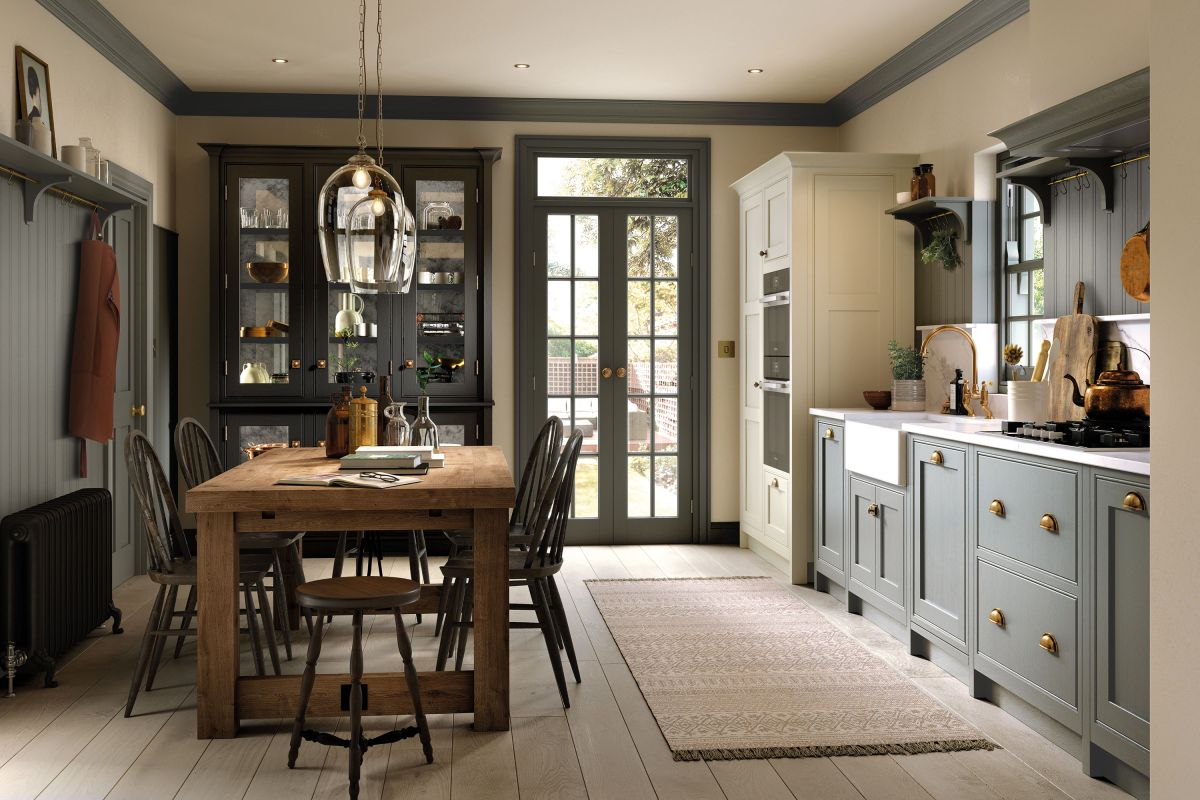 Prepare and eat in a restful rustic space with these country kitchen diner ideas