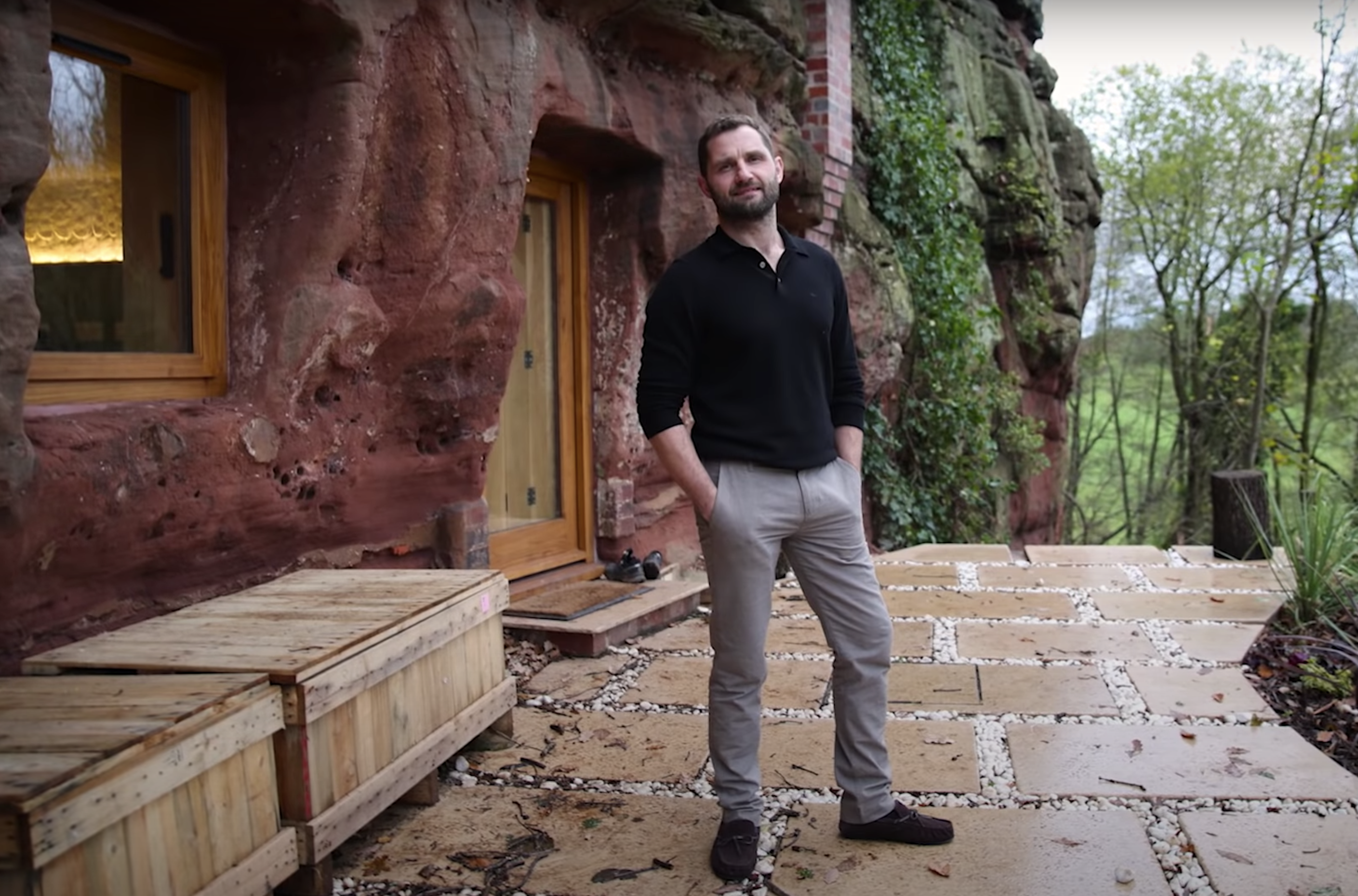 Home Tour This Modern Caveman Built A 165 000 House In A Rock Real Homes