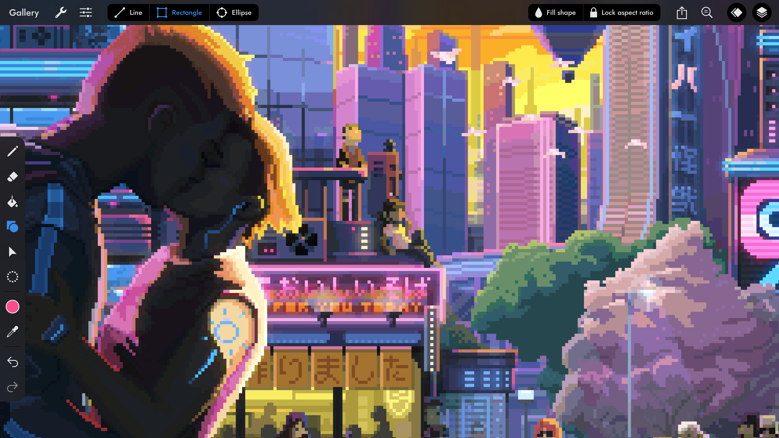 A screenshot showing Pixaki 4 Pro