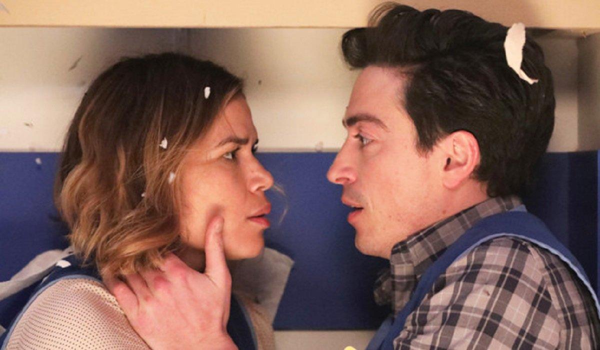 superstore amy jonah season 2 tornado kiss