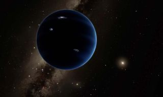 "Artist's illustration of ""Planet Nine"""