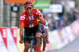 Michael Matthews takes second place behind Sunweb teammate and lone winner Tiesj Benoot on stage 6 of the 2020 Paris-Nice