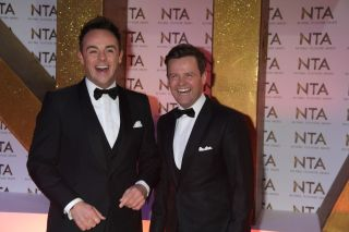 Ant and Dec at an awards ceremony.