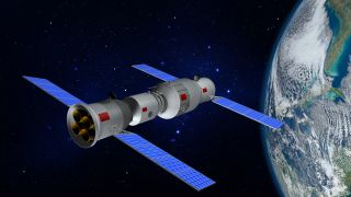 An artist's impression of China's Tiangong space station.